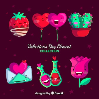 Valentine's day element collection