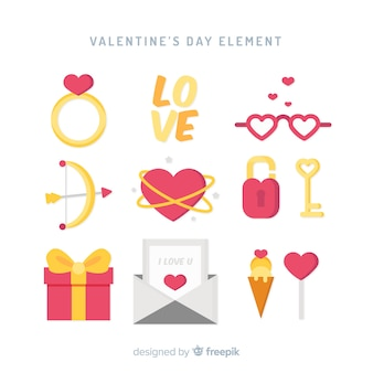 Valentine's day element set