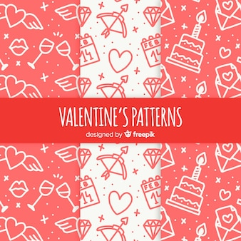 Valentine's day elements pattern