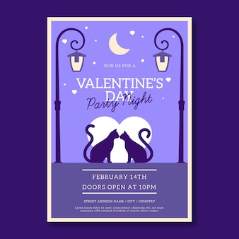 Valentine's day flat party flyer