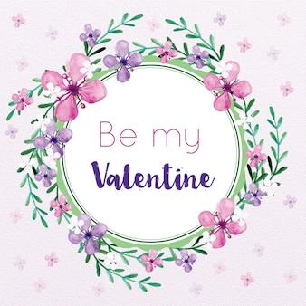バレンタインデー花フレーム