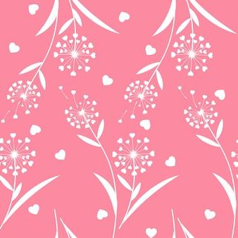 Valentine's day floral seamless pattern.