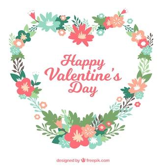 발렌타인 데이 꽃 화환 및 꽃다발