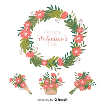 Valentine's day floral wreaths & bouquets