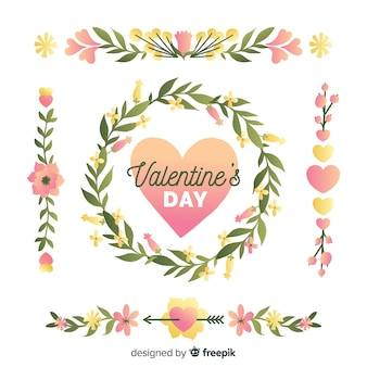 Valentine's day floral wreaths & bouquets