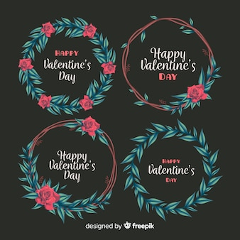 Valentine's day floral wreaths
