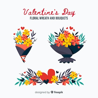 Valentine's day flower and bouquet collection