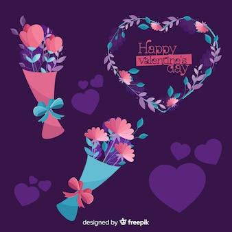 Valentine's day flower collecion