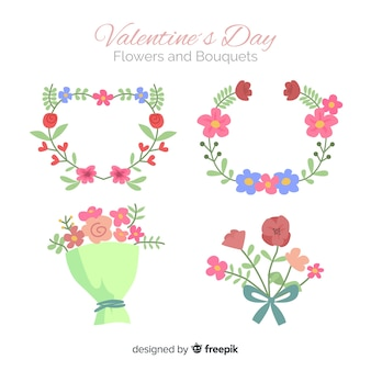 Valentine's day flowers and bouquet collection