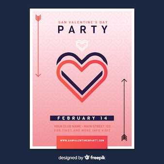 Valentine's day flyer party
