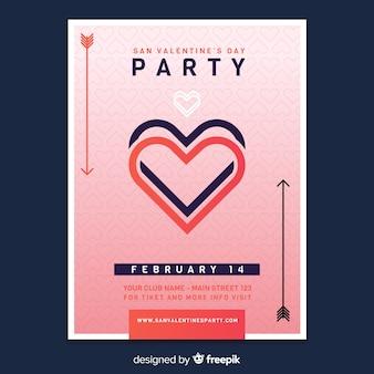 발렌타인 전단지 파티