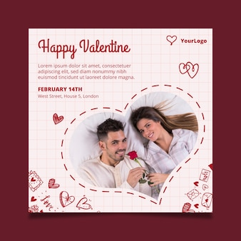 Valentine's day flyer square