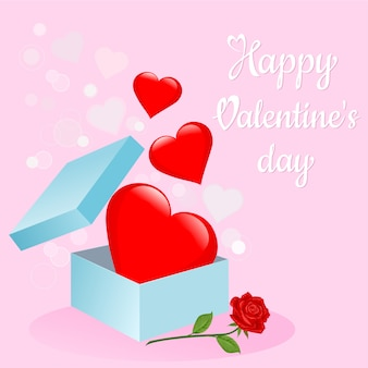 Valentine`s day gift box