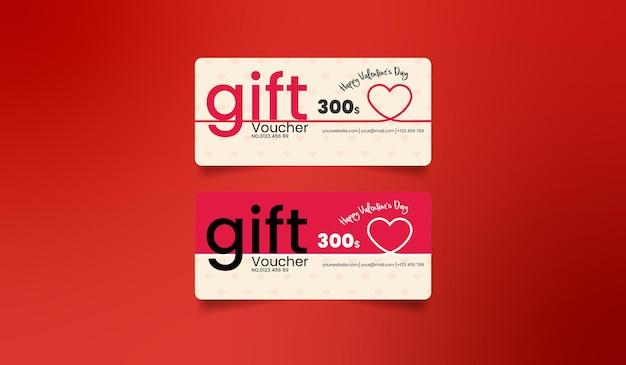 Valentine's day gift voucher card design