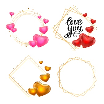 Valentine's day glitters frames