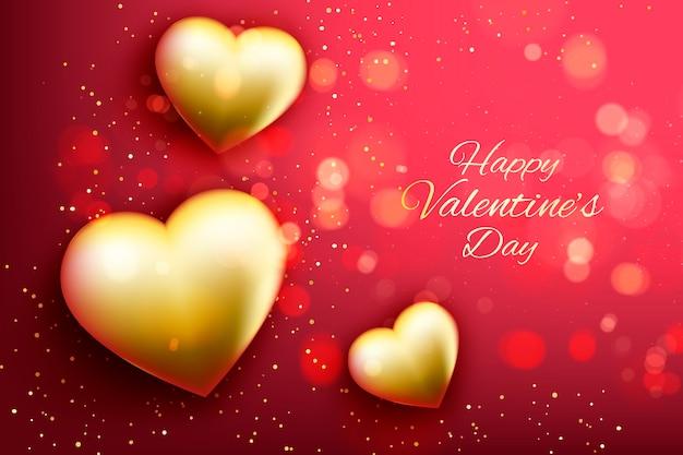 Valentine's day golden background