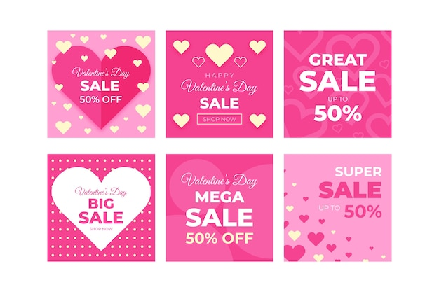 Valentine's day great sale instagram post collection