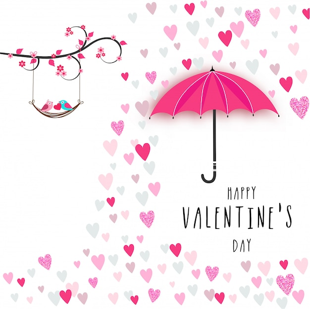 Valentine's day greeting card design.