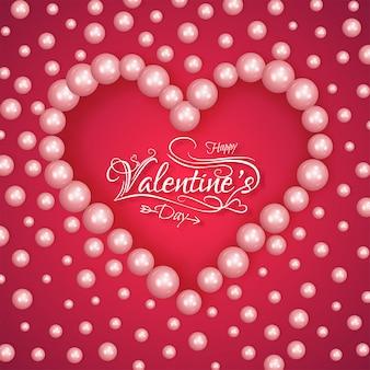 Valentine's day greeting card design