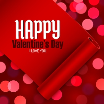 Valentine's day greeting card, love message