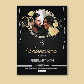 Valentine's day greeting card with photo
