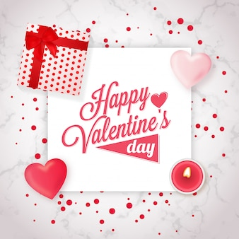 Valentine's day greeting design