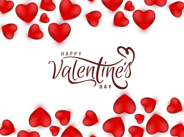 Valentine's day greeting love vector background