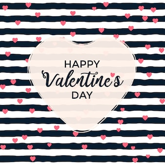 Valentine's day greeting with stripes