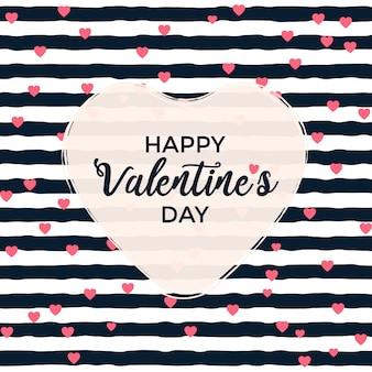줄무늬가있는 발렌타인 데이 인사말