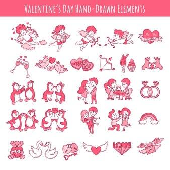 バレンタインデー手描き要素