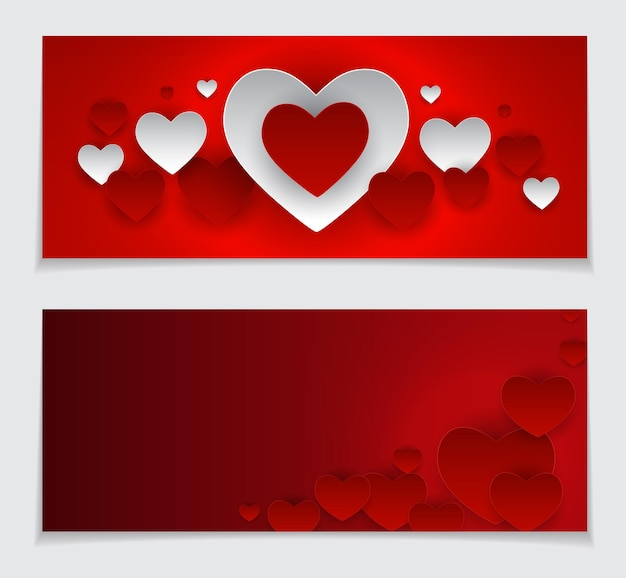 Valentine s day heart card love and feelings background design. vector illustration eps10