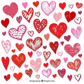 День святого валентина коллекция сердца