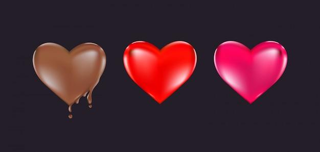 バレンタインハートデザイン