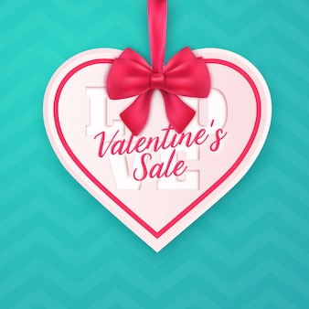 Valentine's day heart shaped sales ad design