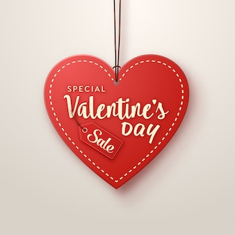 Valentine's day heart shaped sales tag