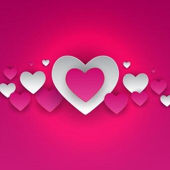 Символ сердца дня святого валентина. любовь и чувства фона дизайн. векторная иллюстрация eps10
