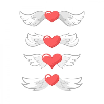 Valentine's day heart wings