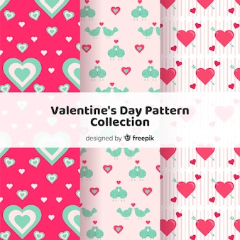 Valentine's day hearts pattern pack