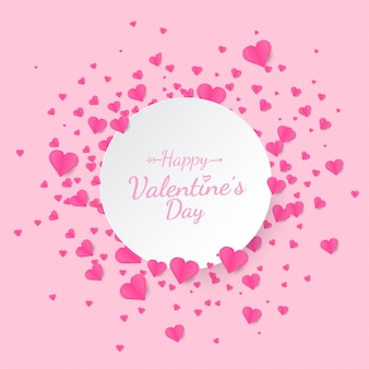 Valentine's day  hearts scatter background with text space