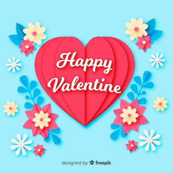 Valentine's day hearts with flowers  background