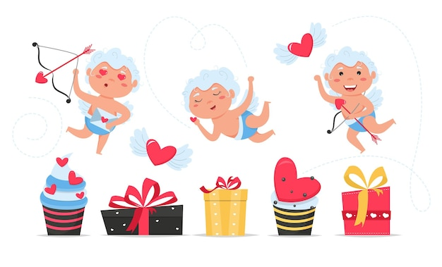 Набор символов праздника дня святого валентина