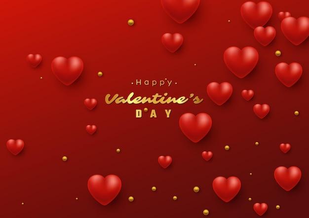 3dハートのバレンタインデーの休日。