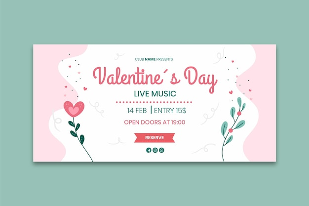 Valentine's day horizontal banner