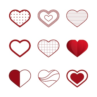 Valentine's day illustration icons