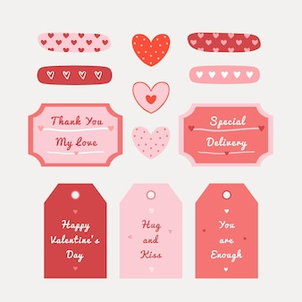 Valentine's day illustration set with hand drawn heart texture for fabric, wrapping, textile