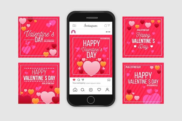 Valentine's day instagram post collection