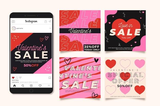 バレンタインデーのinstagramポストパック