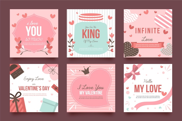 Valentine's day instagram post set