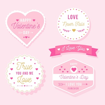 Valentine's day label/badge collection