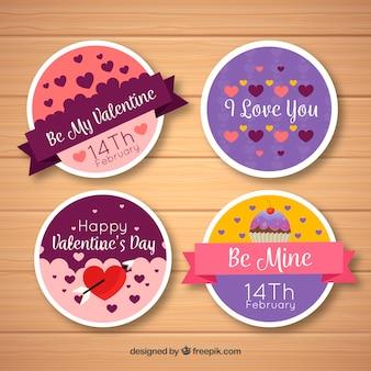 Коллекция лейблов День святого Валентина